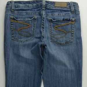 Seven7 Flare Leg 29 Women's Jeans Low Rise C356P